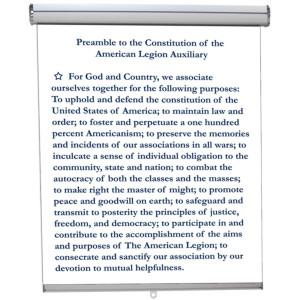 American Legion Preamble Hanging Retractable banner