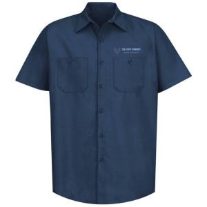 Navy- Industiral short sleeve work shirt